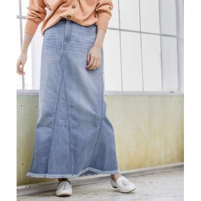 BAYFLOW / リメイクフウデニムスカート(テンセル(TM)繊維使用) WOMEN スカート > デニムスカート