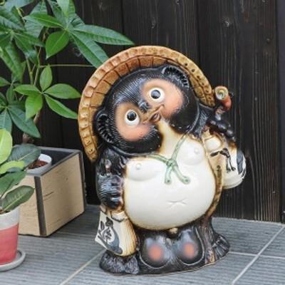 たぬき 置物 名入れ 狸信楽焼 おしゃれ 和風 陶器 【手作り】