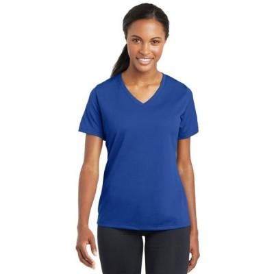 レディース 衣類 トップス Sport-Tek Women's PosiCharge RacerMesh V-Neck Tee Tシャツ