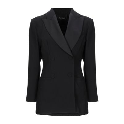 ツインセット シモーナ バルビエリ TWINSET テーラードジャケット ブラック 42 ポリエステル 100% / ウール / レーヨン テーラー