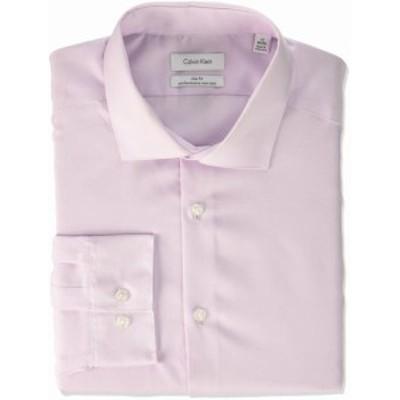 Calvin Klein カルバンクライン ファッション ドレス Calvin Klein Mens Purple Size 17 Slim Fit Performance Dress Shirt