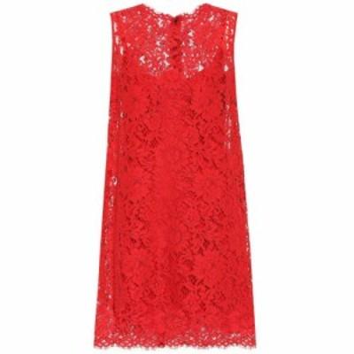 ドルチェandガッバーナ Dolce and Gabbana レディース パーティードレス ワンピース・ドレス Lace minidress Bright Red