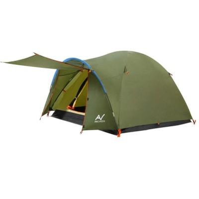 【2021最新版】ANCHEER テント ツーリングテント 3人用 4人用 ゆったり前室付き キャンプテント ファミリー 設営簡単 紫外線防止防風防水 収納バック付き 防
