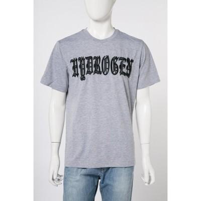 ハイドロゲン Tシャツ 半袖 丸首 メンズ 220624 グレー HYDROGEN