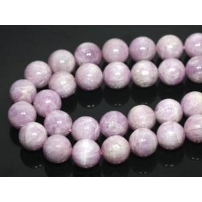 【天然石 丸ビーズ】クンツァイト(ピンク) (2A) 16mm (半連 ブレスレット約1本分) パワーストーン