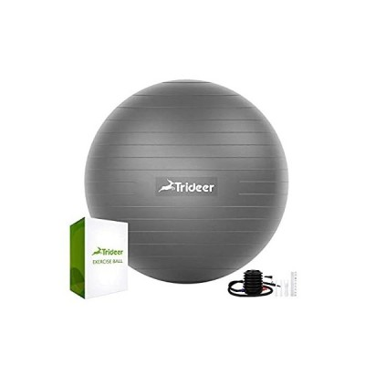Trideer バランスボール 45/55/65/75cm 厚い 耐荷重500KG アンチバースト 滑り止め フットポンプ付き フィットネスボール ピ