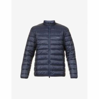 バブアー BARBOUR メンズ ダウン・中綿ジャケット ロゴプリント アウトドア アウター Penton Logo-Print Shell Jacket NAVY