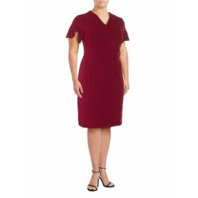 アレクシアアドモール レディース ワンピース Ruffle-Sleeve Sheath Dress