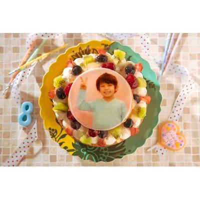 写真ケーキ フルーツタルト 4号 12cm