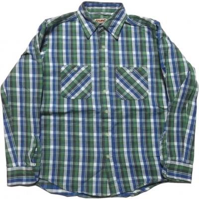 カムコ ヘビーコットン フランネルシャツ グリーン メンズ CAMCO FLANNEL SHIRTS 008