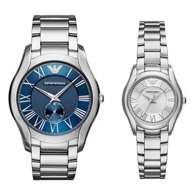 エンポリオアルマーニ ペアウォッチ VALENTE ヴァレンチ シルバー ステンレス AR11085AR11087 腕時計