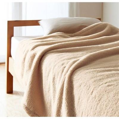 毛布(ふわふわマイクロファイバー)/オークベージュ/ハーフ(140×100cm)