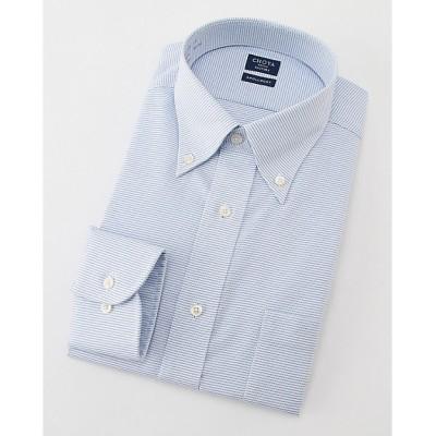 <SHIRT FACTORY(Men)/シャツファクトリー> 長袖ストライプワイシャツ(CFD338-455)(MO018N0MO00000FJH) 455アオ【三越伊勢丹/公式】