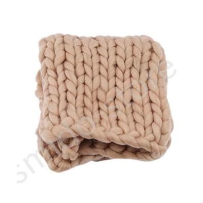 新品未使用!!送料無料!!ZFF Soft Chunky Knit Blanket Handwoven Wool Yarn Knitting Throw for Bed Sofa Pet Mat Baby Super Warm Home Dec