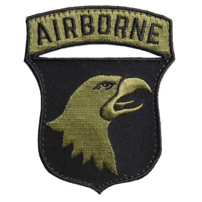 AIR BORNE ワッペン 第101空挺師団 REPSGEAR ベルクロ式 [ 右向き ] ミリタリーワッペン ミリタリーパッチ アップリケ