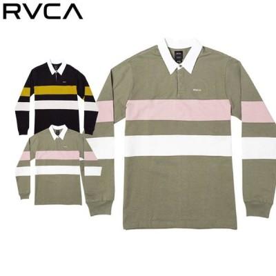 RVCA ルーカ ポロシャツ 長袖 L/S ポロシャツ ボーダー 襟 エリ 春 秋 おしゃれ BA042150