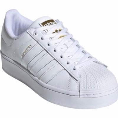 アディダス ADIDAS レディース スニーカー シューズ・靴 Superstar Bold Sneaker White/White/Gold