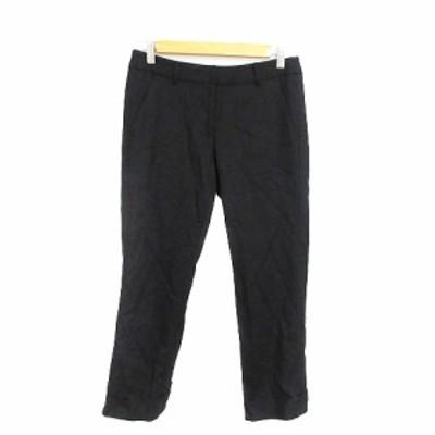【中古】ストロベリーフィールズ STRAWBERRY-FIELDS パンツ クロップド テーパード リボン 2 黒 ブラック /AAM29