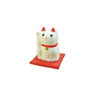 ヤマコー はりこーシカ 招き猫 白 89597