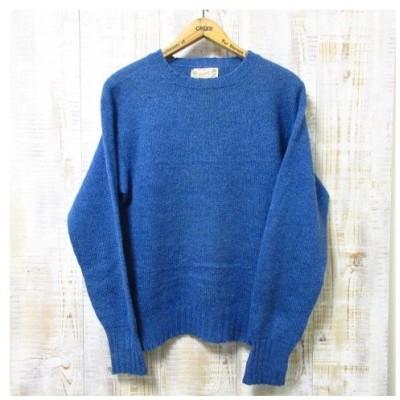 OLD Glengair シェットランドセーター ウール セーター ブルー