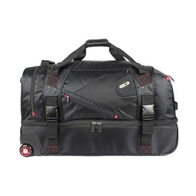 Ful Tour Manager 30-inch Rolling Duffel Bag, Retractable Pull Handle Split Level Storage ,Black 並行輸入品
