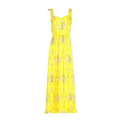 ブルーガール ブルマリン BLUGIRL BLUMARINE ロングワンピース&ドレス イエロー 46 100% レーヨン ロングワンピース&ドレス