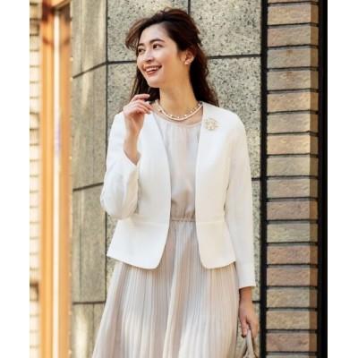 any SiS/エニィスィス 【洗える】ノーカラーライト ジャケット オフホワイト 1