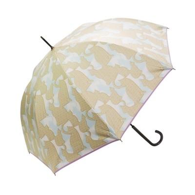 macocca / 完全遮光晴雨兼用 ジャンプ傘 シルエットネコ柄 WOMEN ファッション雑貨 > 長傘