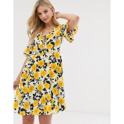 ワイエーエス レディース ワンピース トップス Y.A.S floral print tea dress