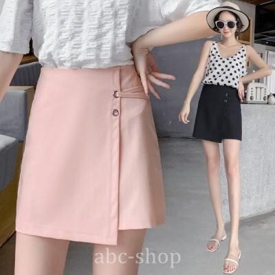 ミニスカートレディース夏人気スカート不規則無地ミニ丈スカートaライン20代30代大きいサイズお洒落カジュアル