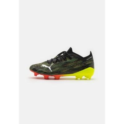 プーマ ブーツ&レインブーツ メンズ シューズ ULTRA 1.2 FG/AG - Moulded stud football boots - black/white/yellow alert