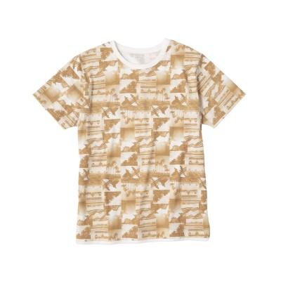 総柄フォトプリントレイヤードTシャツ Tシャツ・カットソー, T-shirts,