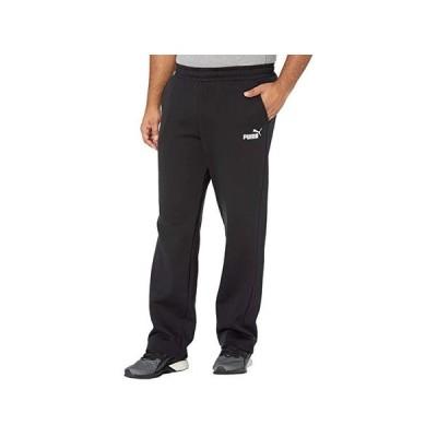 プーマ Big & Tall Essential Logo Pants Fleece Open Bottoms メンズ パンツ ズボン Cotton Black