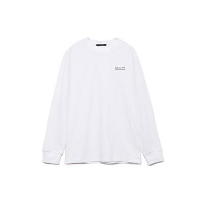 ゲス GUESS Logo L/S Tee (WHITE)