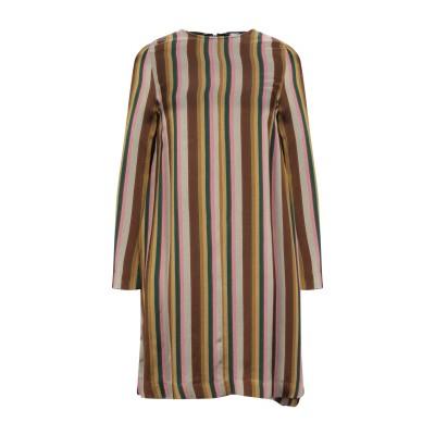 MI.YA ミニワンピース&ドレス カーキ S レーヨン 50% / アセテート 50% ミニワンピース&ドレス