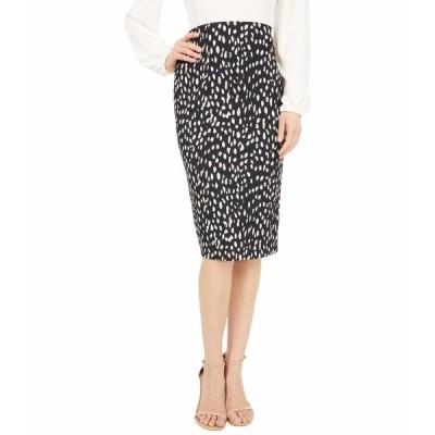 ヴィンスカムート スカート ボトムス レディース Animal Textured Knit Pencil Skirt Rich Black