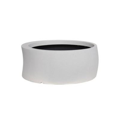 大型鉢カバー カーブ 82型 ホワイト 80×H32.5cm【大和プラ販 ヤマトプラスチック グラスファイバー FRP 植木鉢 4903266725624】