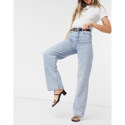 ニュールック New Look レディース ジーンズ・デニム ワイドパンツ ボトムス・パンツ Wide Leg Jean In Dark Blue ダークブルー