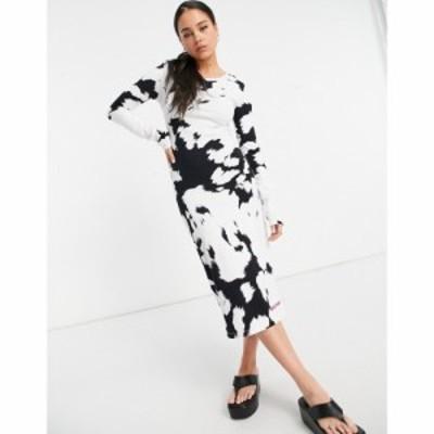 ハウス オブ ホーランド House of Holland レディース ワンピース ミドル丈 ワンピース・ドレス Cow Print Midi Dress マルチカラー