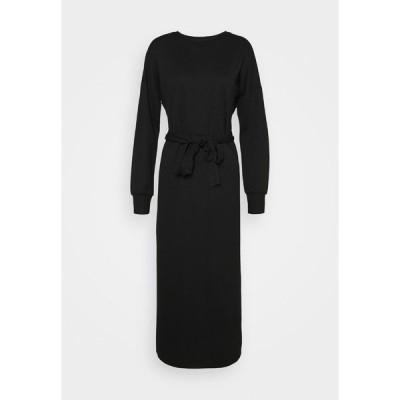 オンリー ワンピース レディース トップス ONLHOLLIE LONG BELT DRESS - Maxi dress - black