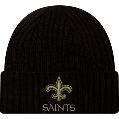 ニューエラ New Era メンズ ニット 帽子 Salute to Service New Orleans Saints Black Knit Hat
