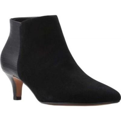 クラークス Clarks レディース ブーツ ショートブーツ シューズ・靴 Linvale Sea Ankle Bootie Black Croco Synthetic Combi