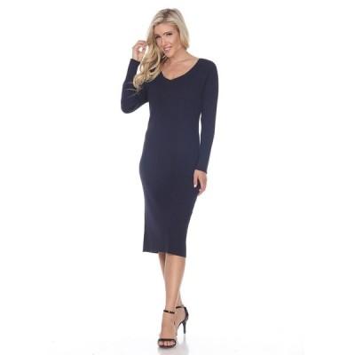 ホワイトマーク ワンピース トップス レディース Women's Destiny Sweater Dress Navy