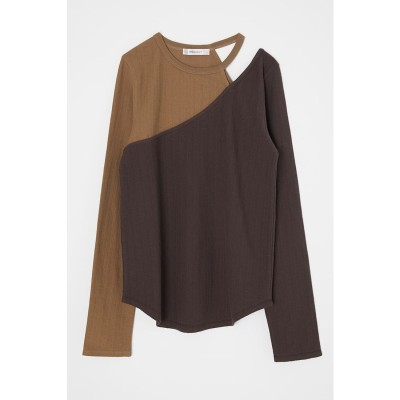 CUT OUT LAYERED トップス BEG