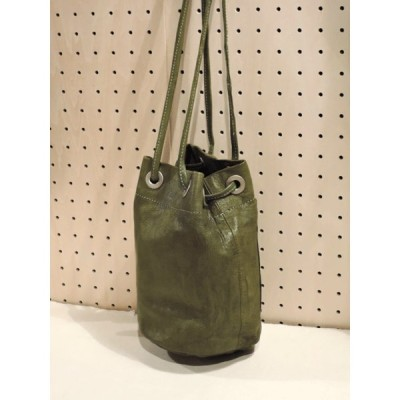 Creed 358C21 dye drawstring bag 巾着バッグ KHAKI