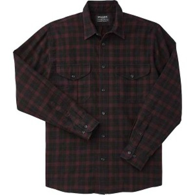 フィルソン メンズ シャツ トップス Filson Men's Lightweight Alaskan Guide Shirt Black / Burgundy Heather