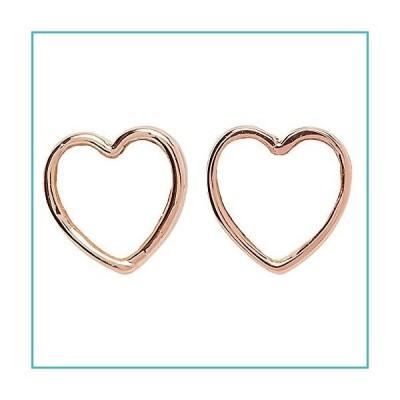 Pura Vida Rose Gold-Plated Heart of Pearl Stud Earring, Sterling Silver - 1 Pair【並行輸入品】