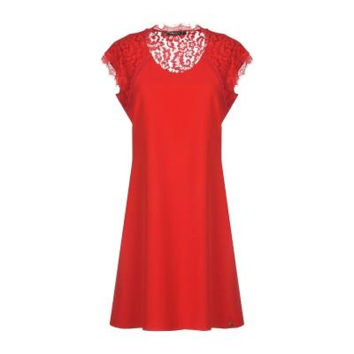 SISTE' S ミニワンピース&ドレス レッド M ポリエステル 88% / ポリウレタン 12% / ナイロン / コットン ミニワンピース&ド