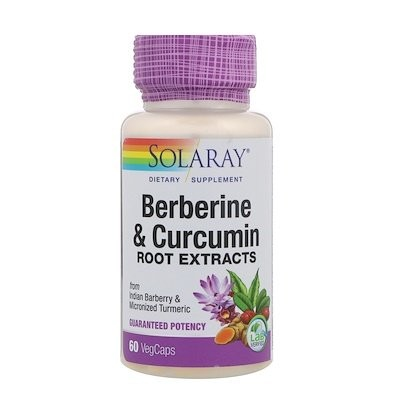 Berberine & Curcumin Root Extracts, 60 VegCaps