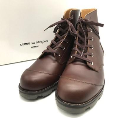 コムデギャルソン オム ビブラムソールワークブーツ レースアップ 箱付き 美品 メンズ 26.5cm ブラウン COMMEdesGARCONS HOMME 靴 B5372◆